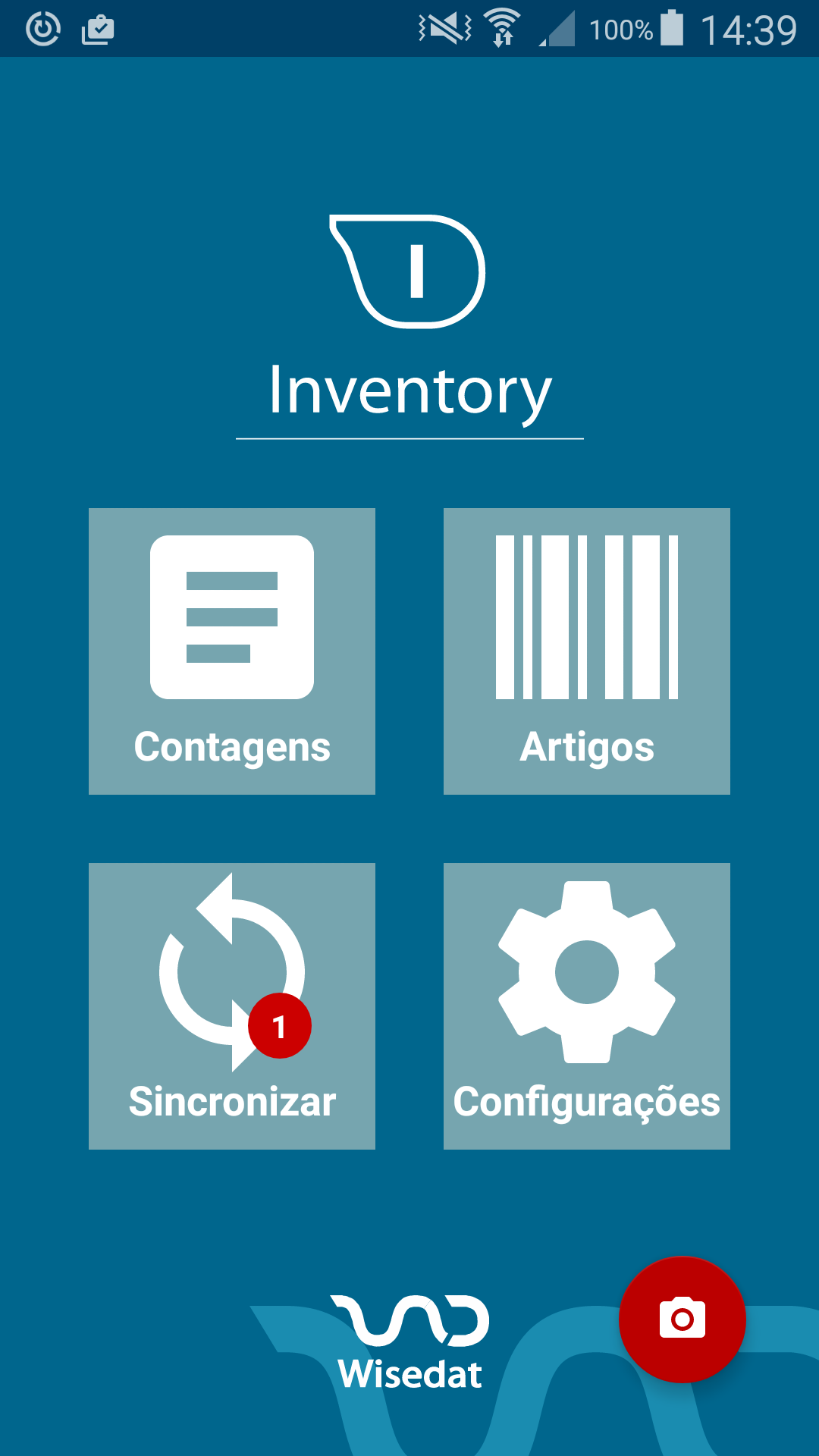 Wisedat Inventory - Ecrã inicial